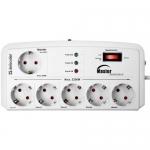 Сетевой фильтр Defender DFS-805, 5м, White