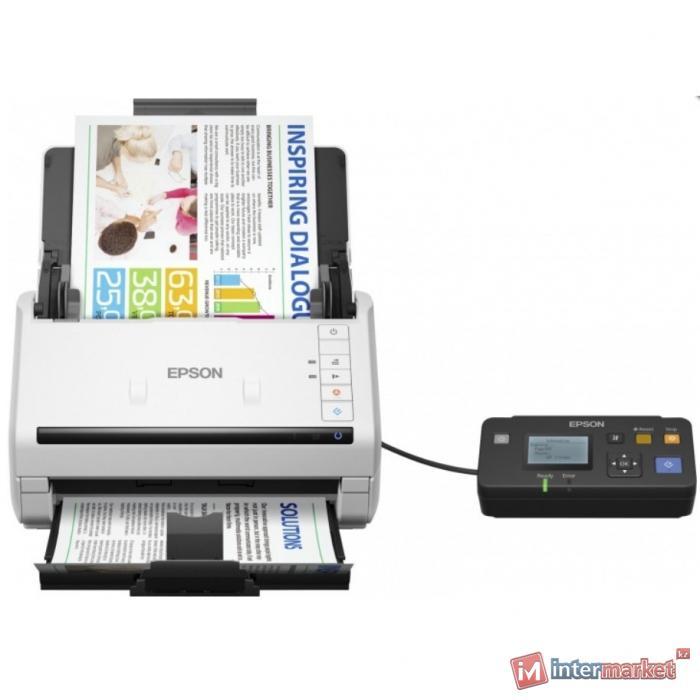 Сканер Epson WorkForce DS-530N, A4, 600 x 600 dpi, USB, Ethernet 10/100 Base Tx, B11B226401BT