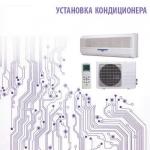 Установка кондиционера 7 сплит-системы настенного типа до 20 кв